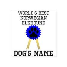 Worlds Best Norwegian Elkhound (Custom) Sticker