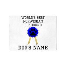 Worlds Best Norwegian Elkhound (Custom) 5'x7'Area