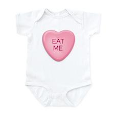 EAT  ME candy heart Infant Bodysuit