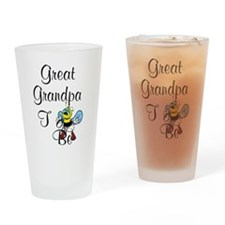 Playful Great Grandpa To Bee Drinking Glass