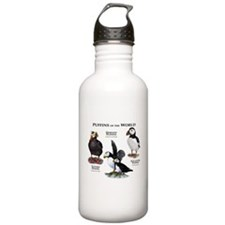Puffins of the World Water Bottle