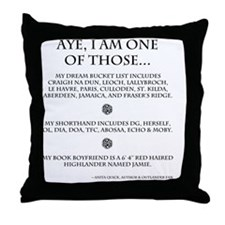Call Me Sassanach Throw Pillow