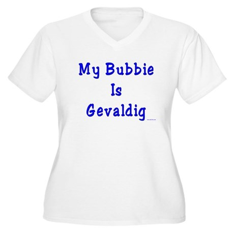 Gevaldig Bubbie Women's Plus Size V-Neck T-Shirt
