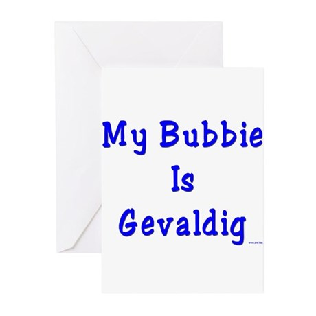 Gevaldig Bubbie Greeting Cards (Pk of 10)
