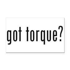 Cute Torque Rectangle Car Magnet