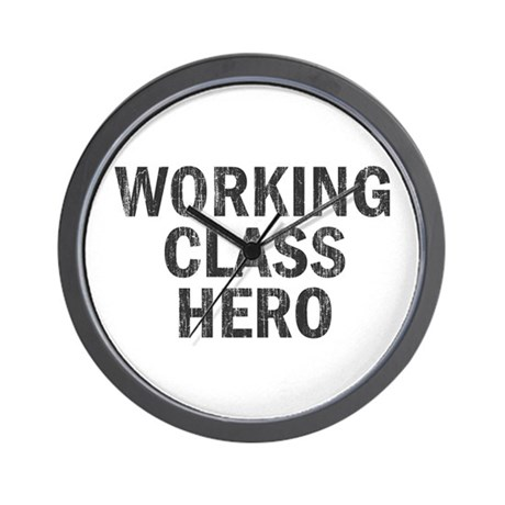 Working Class Hero Wall Clock