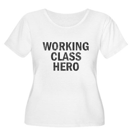 Working Class Hero Womens Plus Size Scoop Neck T-