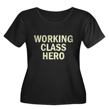 Working Class Hero Womens Plus Size Scoop Neck Da