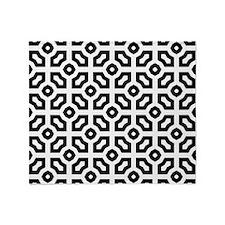 Funky Geometric Throw Blanket