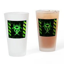 Green Bio-hazard Drinking Glass