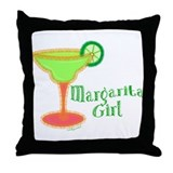 Margarita Girl Throw Pillow