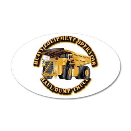 Heavy Equipment Operator - D 35x21 Oval Wall Decal