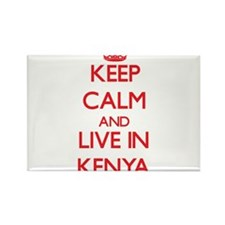 Keep Calm and live in Kenya Magnets