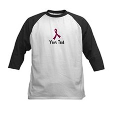 Personalized Burgundy Ribbon Tee