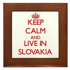 Keep Calm and live in Slovakia Framed Tile