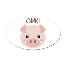 OINK! Oval Car Magnet