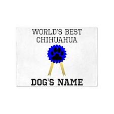 Worlds Best Chihuahua (Custom) 5'x7'Area Rug