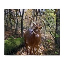 Woodland Buck Throw Blanket