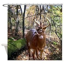 Woodland Buck Shower Curtain