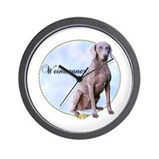 Weimaraner Portrait Wall Clock
