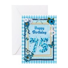 75th Birthday with a scrapbooking theme Greeting C