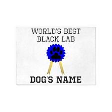Worlds Best Black Lab (Custom) 5'x7'Area Rug
