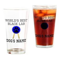 Worlds Best Black Lab (Custom) Drinking Glass