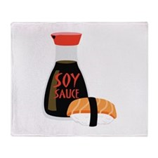 SOY SAUCE Throw Blanket