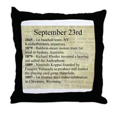 September 23rd Throw Pillow