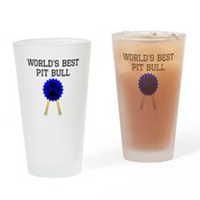 Worlds Best Pit Bull Drinking Glass