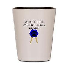 Worlds Best Parson Russell Terrier Shot Glass