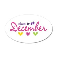 Due in December Wall Decal