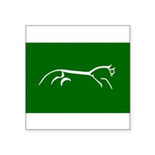 uffington white horse - Oval Sticker
