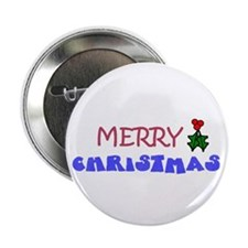 "BUY MERRY CHRISTMAS 2.25"" Button (10 pack)"