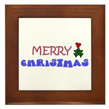 MERRY CHRISTMAS PLAQUE Framed Tile