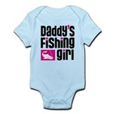 Daddy's Fishing Girl  Baby Onesie