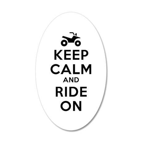 Keep Calm Ride On 20x12 Oval Wall Decal