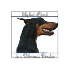 Dobie Best Friend2 Rectangle Sticker
