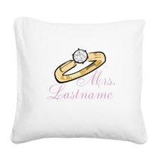 Personalized Mrs. Square Canvas Pillow