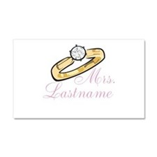 Personalized Mrs. Car Magnet 20 x 12