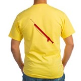 Scuba Diving Yellow T. Spearfishing Math T-Shirt