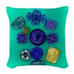 Buttons Woven Throw Pillow
