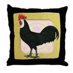 Whitefaced Spanish Rooster Throw Pillow