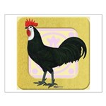 Whitefaced Spanish Rooster Small Poster