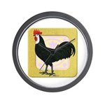 Whitefaced Spanish Rooster Wall Clock