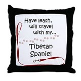 Tibbie Travel Leash Throw Pillow