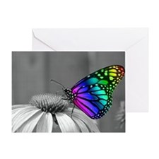 Flower with Butterfly Greeting Card