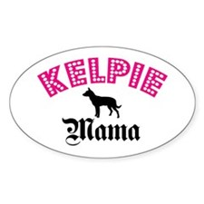 Kelpie Mama Oval Decal