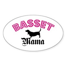 Basset Mama Oval Decal