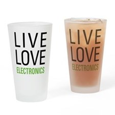 Live Love Electronics Drinking Glass